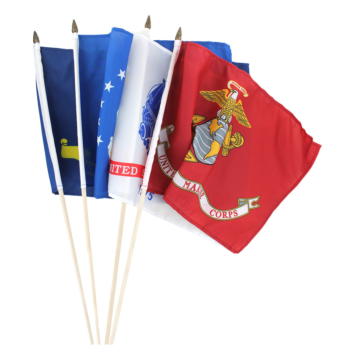 Military Stick Flags 12 x 18 inch
