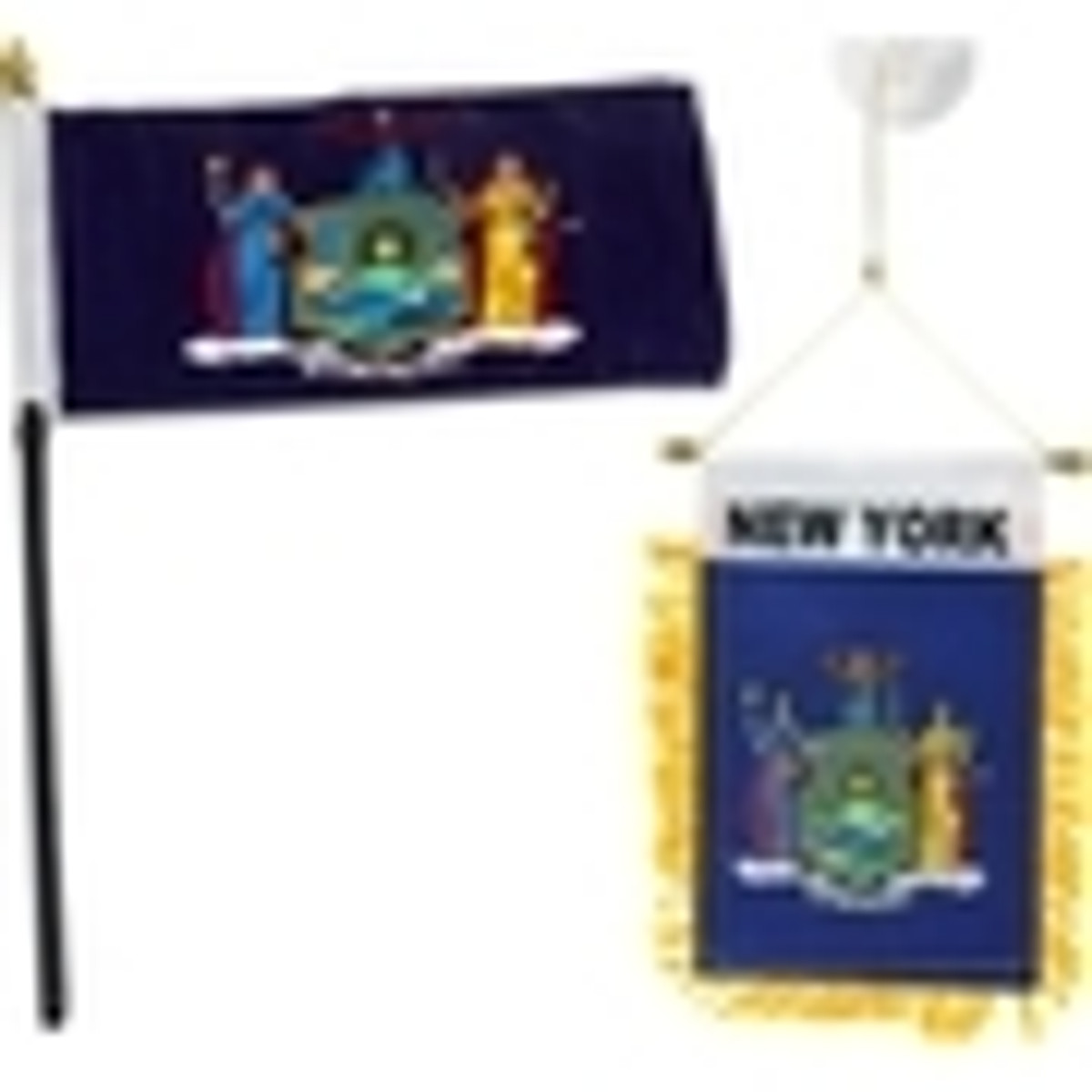 Small New York Flags