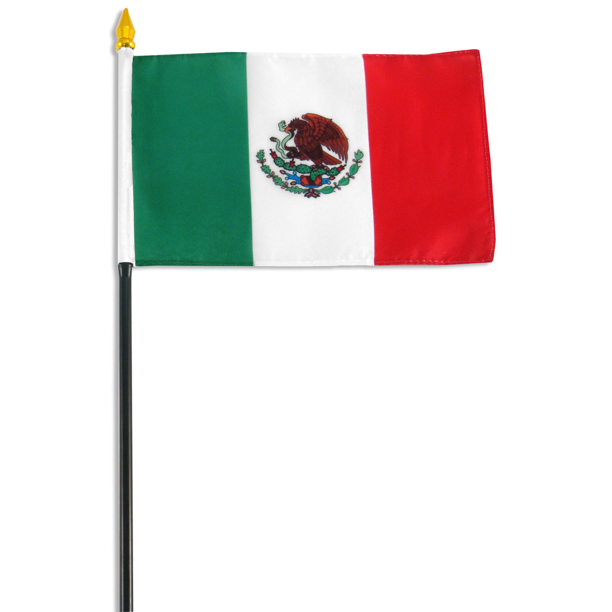 Mexico 4in x 6in Poly-cotton Flag