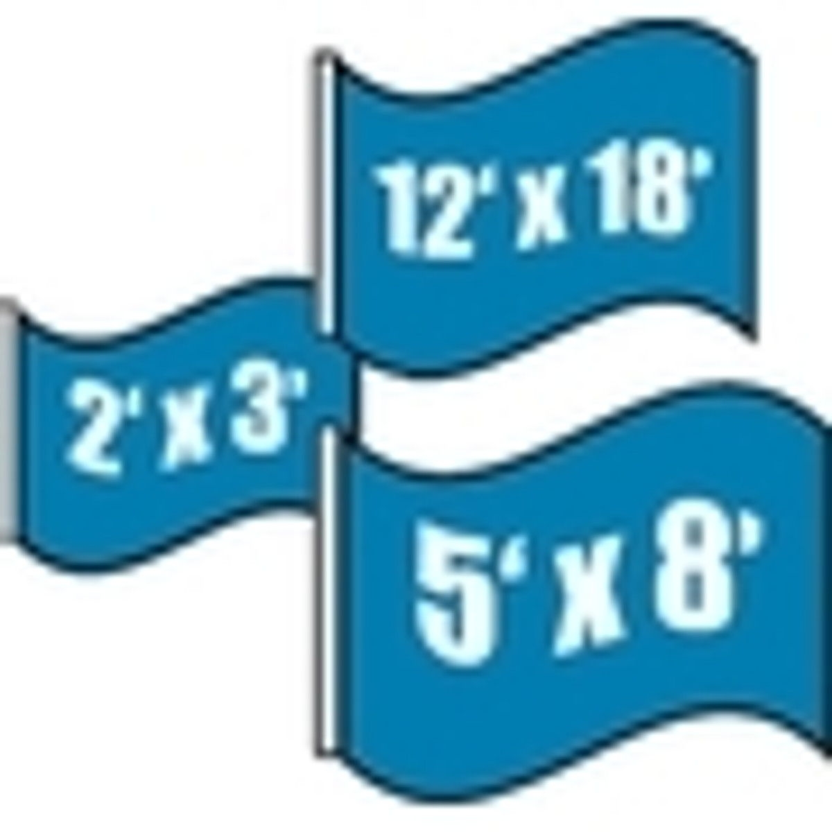 Military Flags Shop by Size