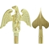 Gold Indoor Flagpole Ornaments