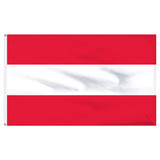 "Austria 12"" x 18"" Nylon Flag - No Eagle"