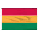 "Bolivia 12"" x 18"" Nylon Flag - No Seal"