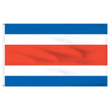 "Costa Rica 12"" x 18"" Nylon Flag - No Seal"