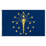 Indiana Flag 3ft x 5ft Super Knit polyester