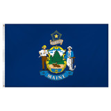 Maine flag 3 x 5 feet Super Knit polyester