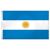 Argentina Flag 3ft  x 5ft Super Knit Polyester