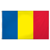 Romania Flag 3ft x 5ft Super Knit Polyester