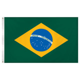 Brazil flag 3ft x 5ft Super Knit polyester