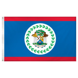 Belize Flag 3ft x 5ft Super Knit Polyester