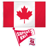 Canada Flag 3ft x 5ft Super Knit Polyester