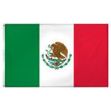 Mexico  flag 3ft x 5ft Super Knit Polyester