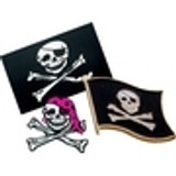 Pirate Pins, Patches, Decal Stickers & Tattoos