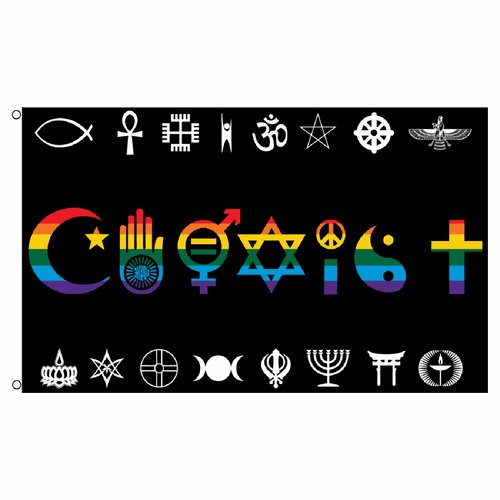 Coexist Rainbow Flag 3ft x 5ft Printed Polyester