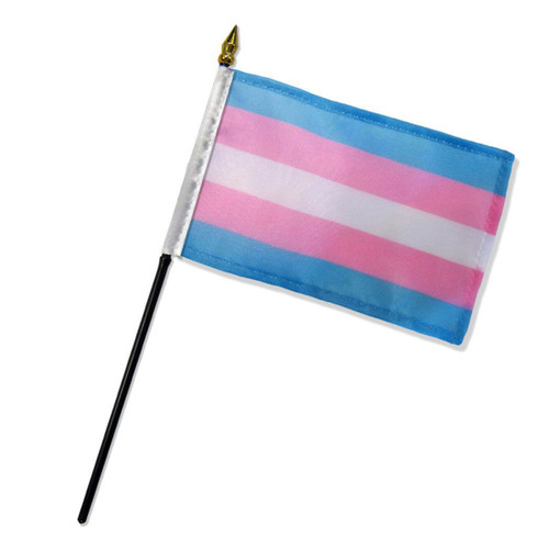 "Transgender 4"" x 6"" Stick Flag"