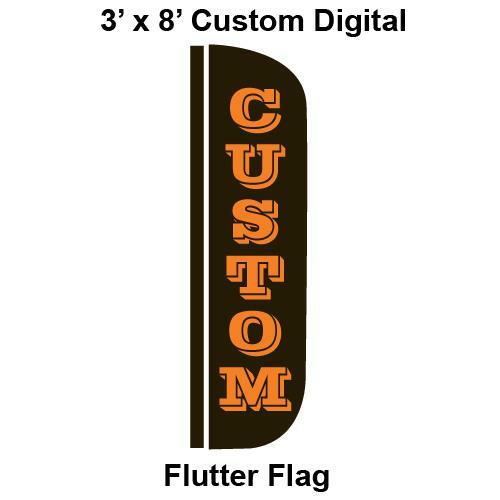 Custom Digital 3' x 8' Flutter Flag