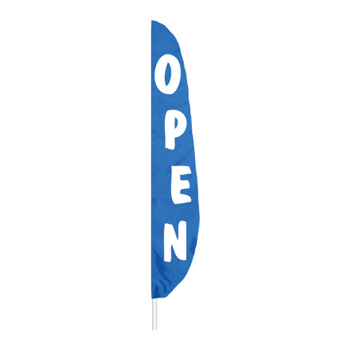 Feather Message Open Banner Flag - Blue