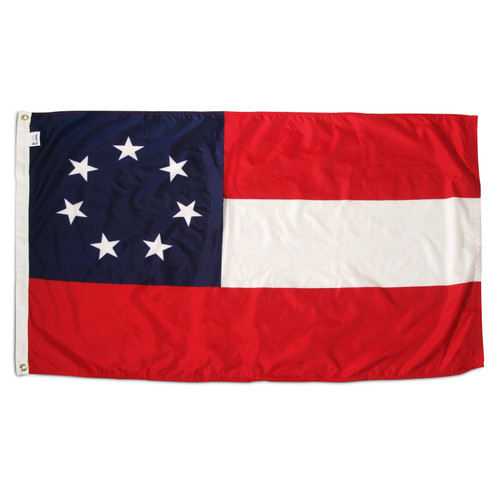 Confederate 1st National 3ft x 5ft Nylon Flag - Outdoor