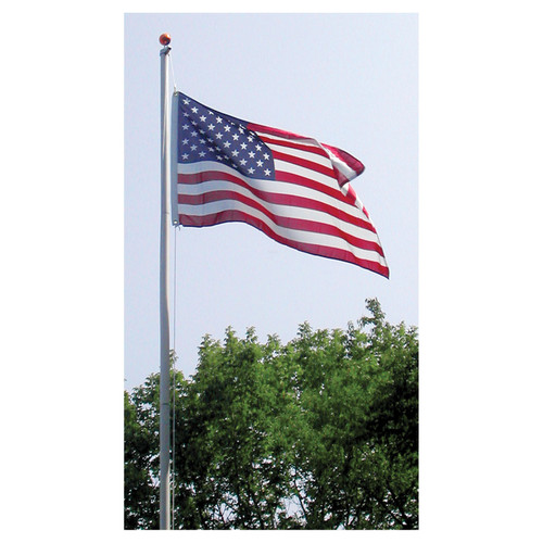 Super Tough Residential 20ft Flagpole  (Silver, White or Bronze )