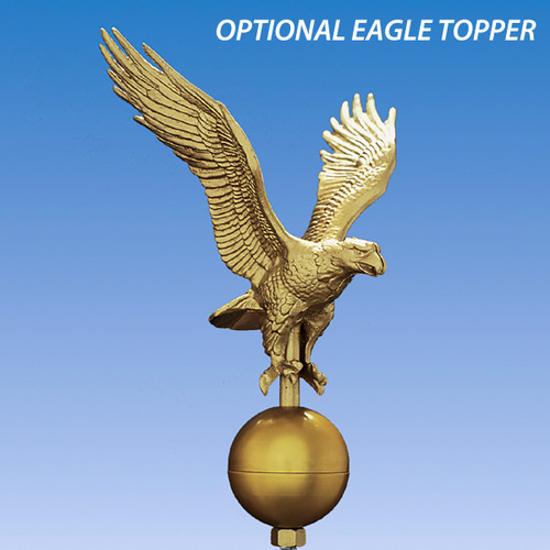 Eagle Topper for TopFlight Telescoping 20ft Flagpole