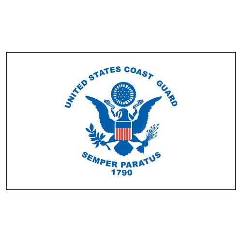 US Coast Guard Flag 4x6ft Nylon