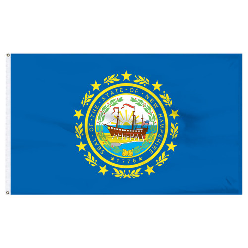 New Hampshire flag 4 x 6 feet nylon