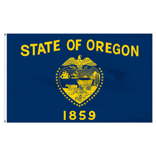 Oregon flag 4 x 6 feet nylon