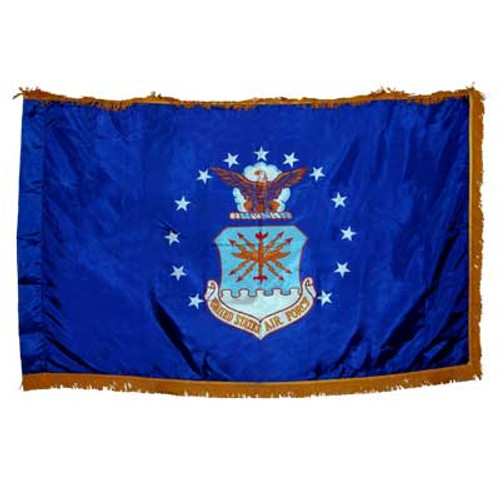 Indoor Air Force Flag 3x5 Nylon w/Fringe