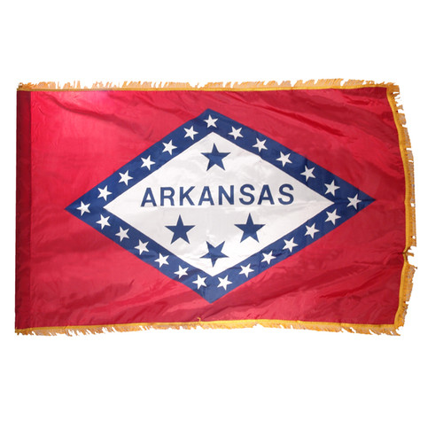 Arkansas Flag 3ft x 5ft Nylon Indoor