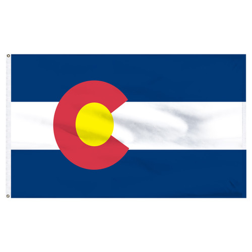 Colorado Flag 3ft x 5ft Nylon Indoor