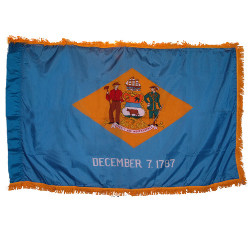 Delaware Flag 3ft x 5ft Nylon Indoor