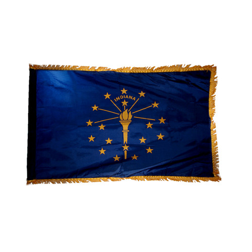 Indiana Flag 3ft x 5ft Nylon Indoor