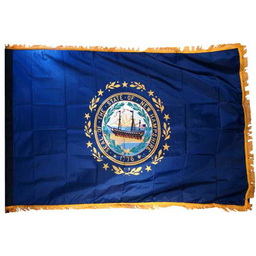 New Hampshire Flag 3ft x 5ft Nylon Indoor