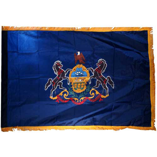 Pennsylvania Flag 3ft x 5ft Nylon Indoor