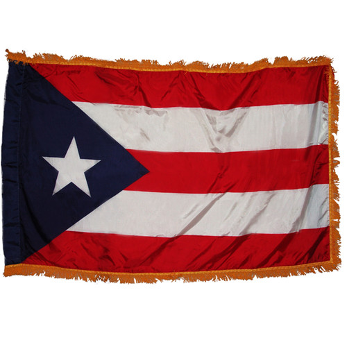 Puerto Rico Flag 3ft x 5ft Nylon Indoor