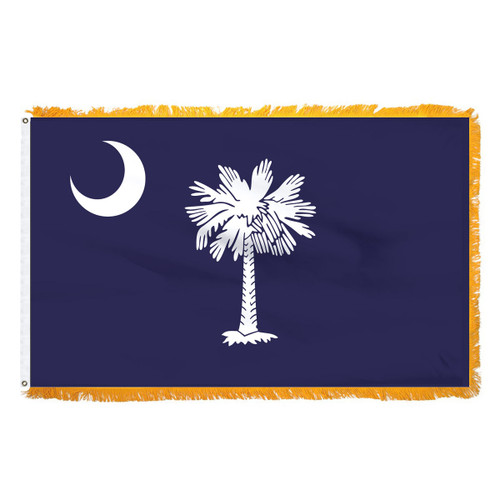 South Carolina Flag 4 x 6 Feet Nylon-Indoor: Add Pole Hem and Fringe