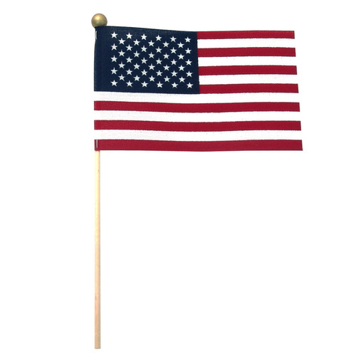 "Super Tough 4"" x 6"" Stick Flag Standard with Ball Tip"