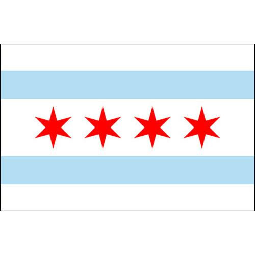 Chicago 4' X 6' Nylon Flag