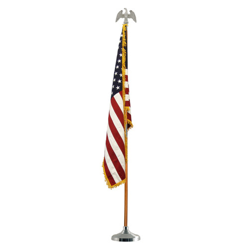 Super Tough Silver Indoor Flagpole Kit