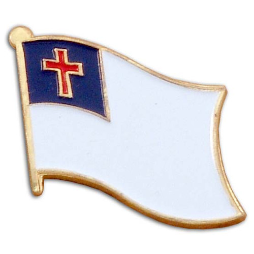 Christian Flag Lapel Pin - Single
