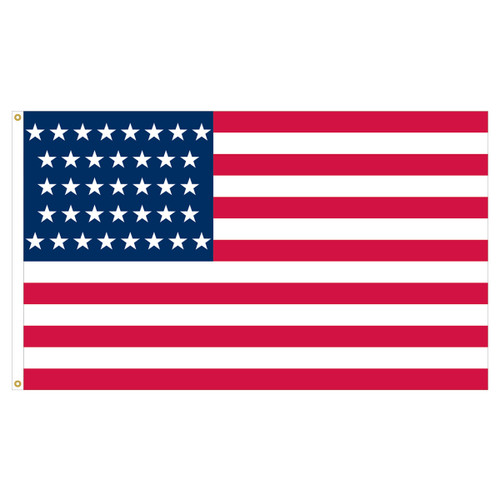 3ft x 5ft Nylon Outdoor 37 Star US Flag