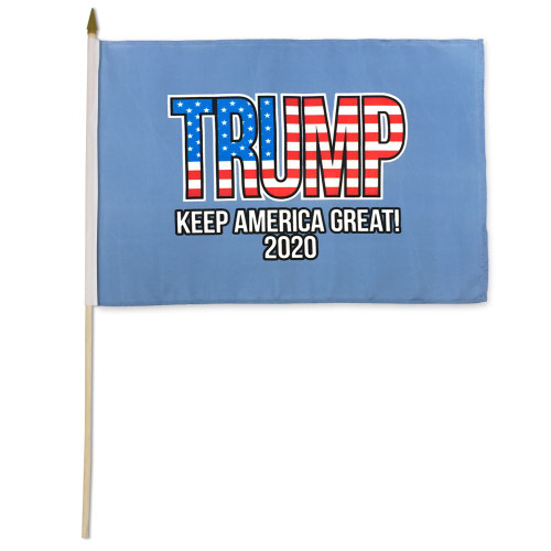 "Trump 2020 12"" x 18"" Stick Flag"