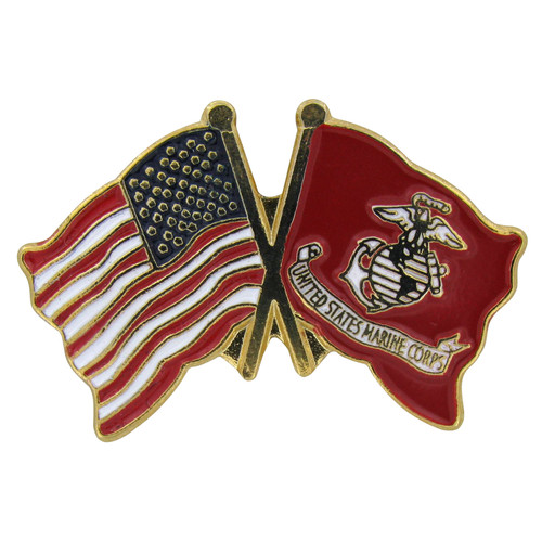 US and Marine Flag Lapel Pin
