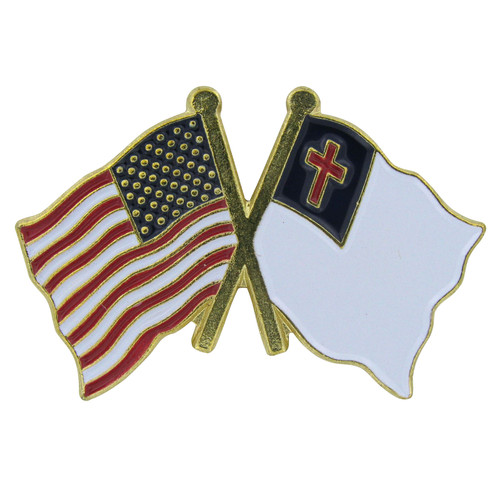USA Flag/Christian Flag Lapel pin - Single