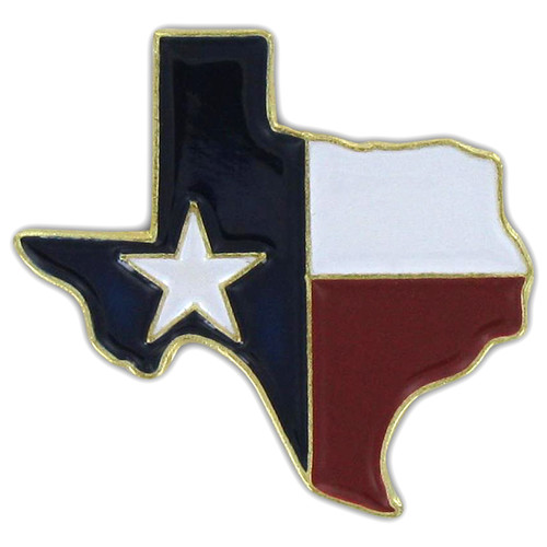 Texas Map Pin - Single