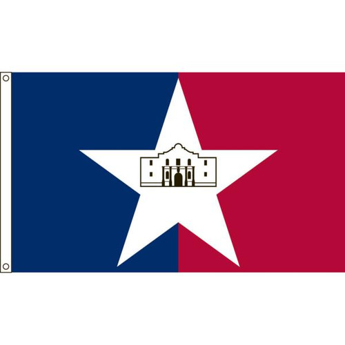 San Antonio 5' X 8' Nylon Flag