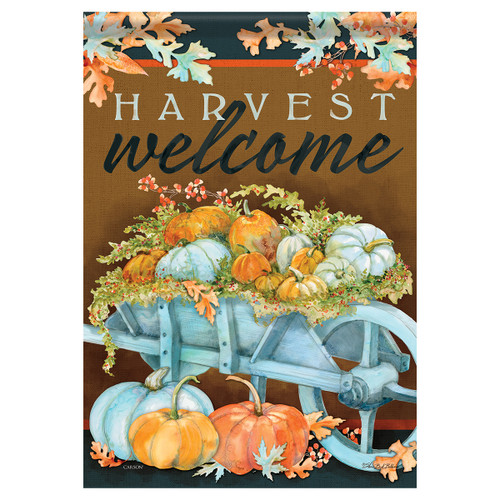 Carson Fall Garden Flag - Harvest Wheelbarrow