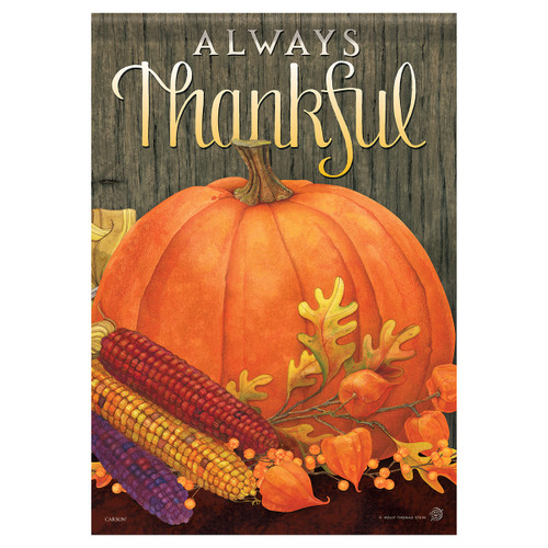 Carson Fall Banner Flag - Always Thankful