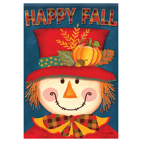 Carson Fall Banner Flag - Bright Scarecrow