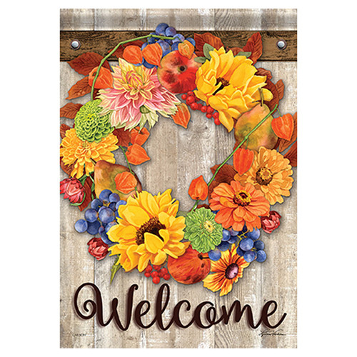 Carson Fall Banner Flag - Autumn Bounty Wreath